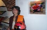 Gabriella-Giuriato-all'inaugurazione-mostra-Metasfera-Ass-la-Meridiana-Mondovì-2012